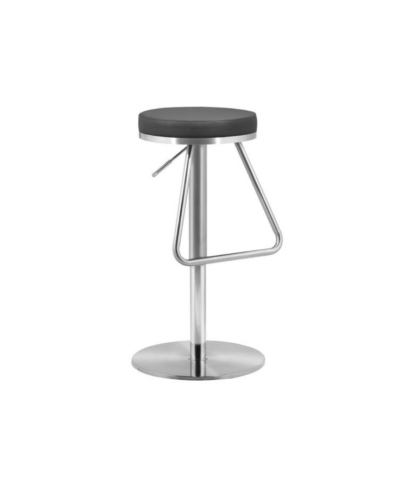 Cool Zuo Soda Adjustable Stool Stainless Black Forskolin Free Trial Chair Design Images Forskolin Free Trialorg